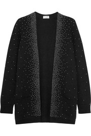 Oversized studded mohair-blend cardigan