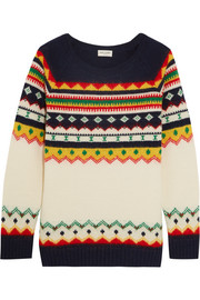 Fair Isle intarsia wool-blend sweater
