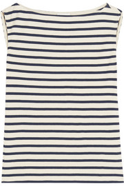 Striped cotton-jersey tank