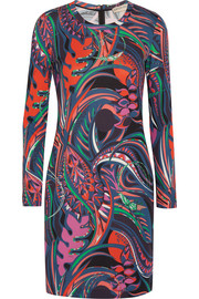 Emilio Pucci Printed stretch-cady mini dress