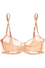 Charivari Leavers lace and stretch-satin balconette bra