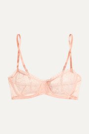 Enchantée Popeline stretch-Leavers lace balconette bra