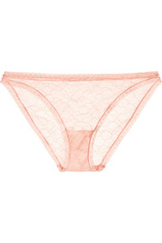 Enchantée Veloutée stretch-Leavers lace briefs