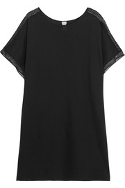 Inattendue Amusant lace-trimmed cotton-jersey nightdress
