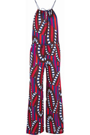 Farah printed cotton-jersey jumpsuit