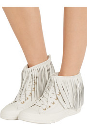 Converse Chuck Taylor All Star fringed leather sneakers