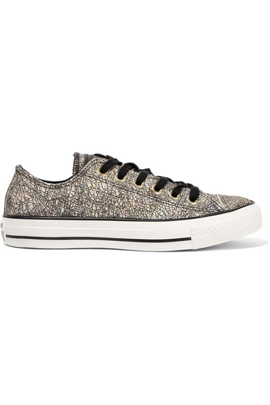 0202c73b3f3b31 Converse. Chuck Taylor All Star iridescent cracked-leather sneakers