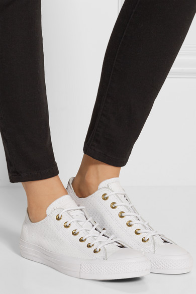 7c1c0d935d2158 Converse. Chuck Taylor All Star perforated leather sneakers