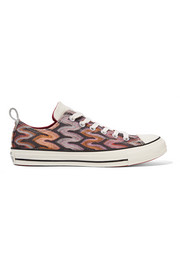 Converse + Missoni Chuck Taylor All Star leather-trimmed metallic crochet-knit sneakers