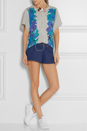 Adidas by Stella McCartney Blossom printed cotton-jersey T-shirt