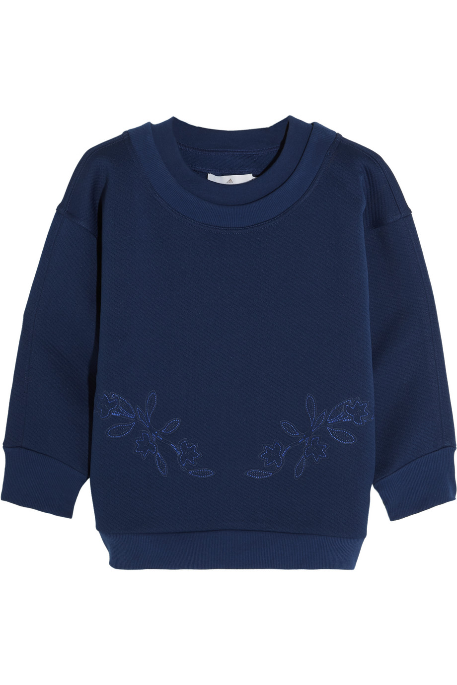 Embroidered Jersey Sweatshirt, Adidas by Stella Mccartney, Navy, Women's, Size: XS