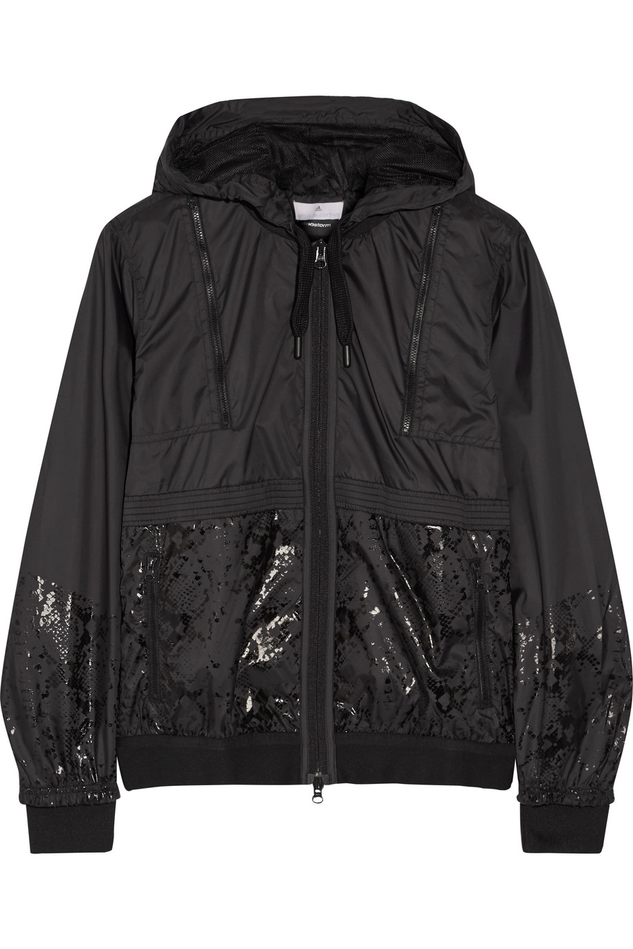 Hooded Shell Jacket, Adidas by Stella Mccartney, Black, Women's, Size: L