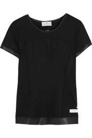 Adidas by Stella McCartney The Performance paneled Climalite® stretch T-shirt