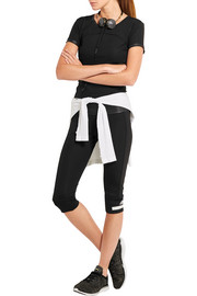 Adidas by Stella McCartney Cropped paneled Climalite® stretch leggings