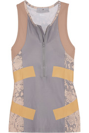 Adidas by Stella McCartney Running Techfit® snake-print Climalite® stretch tank