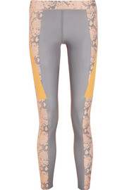 Adidas by Stella McCartney Running Techfit® snake-print Climalite® stretch leggings