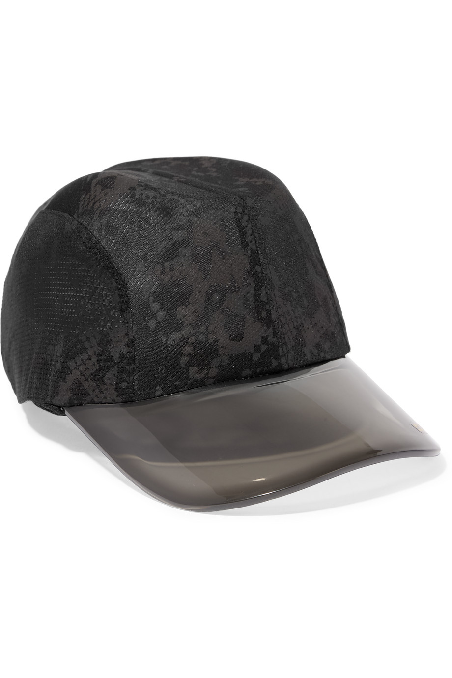 Printed Stretch-Mesh Cap, Adidas by Stella Mccartney, Black, Women's, Size: One size