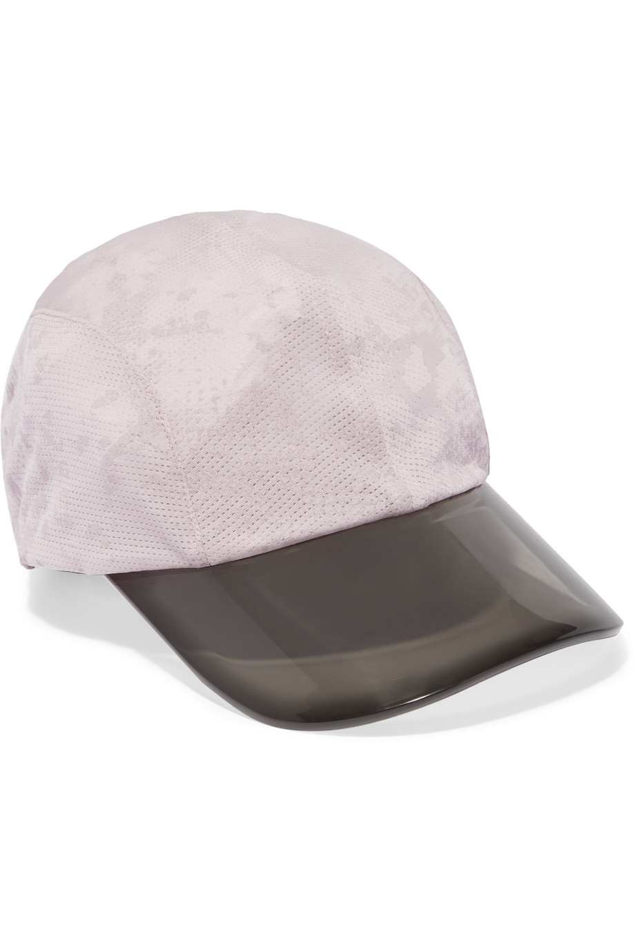 Printed Stretch-Mesh Cap, Adidas by Stella Mccartney, Light Gray, Women's, Size: One size