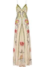 Temperley London Carmelina embroidered tulle gown
