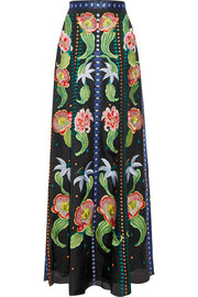 Temperley London Carmelina embroidered silk-organza maxi skirt