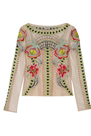 Temperley London Carmelina embroidered tulle top