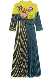 Mary Katrantzou Carni pleated printed crepe de chine dress