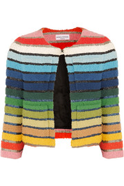 Sonia Rykiel Metallic-striped cotton-blend terry jacket