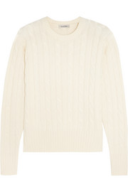 Livigno cable-knit wool, silk and cashmere-blend sweater