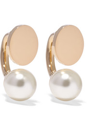 Darcey gold-tone Swarovski pearl earrings