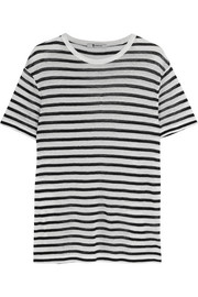 T by Alexander Wang Striped jersey T-shirt