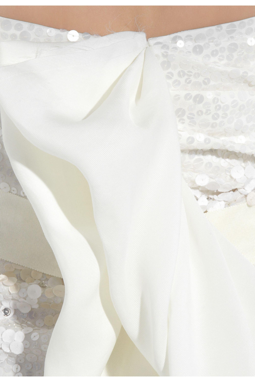 Lanvin Strapless silk-gazar beaded gown