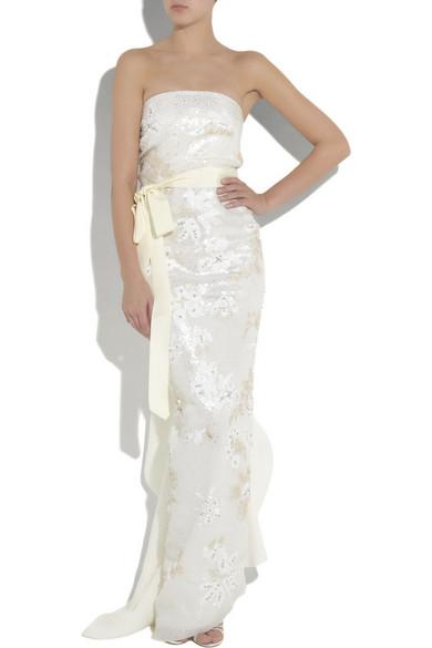 Lanvin | Strapless silk-gazar beaded gown | NET-A-PORTER.COM