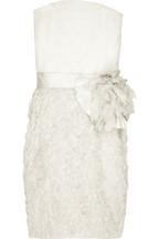 LanvinSilk-blend bustier dress