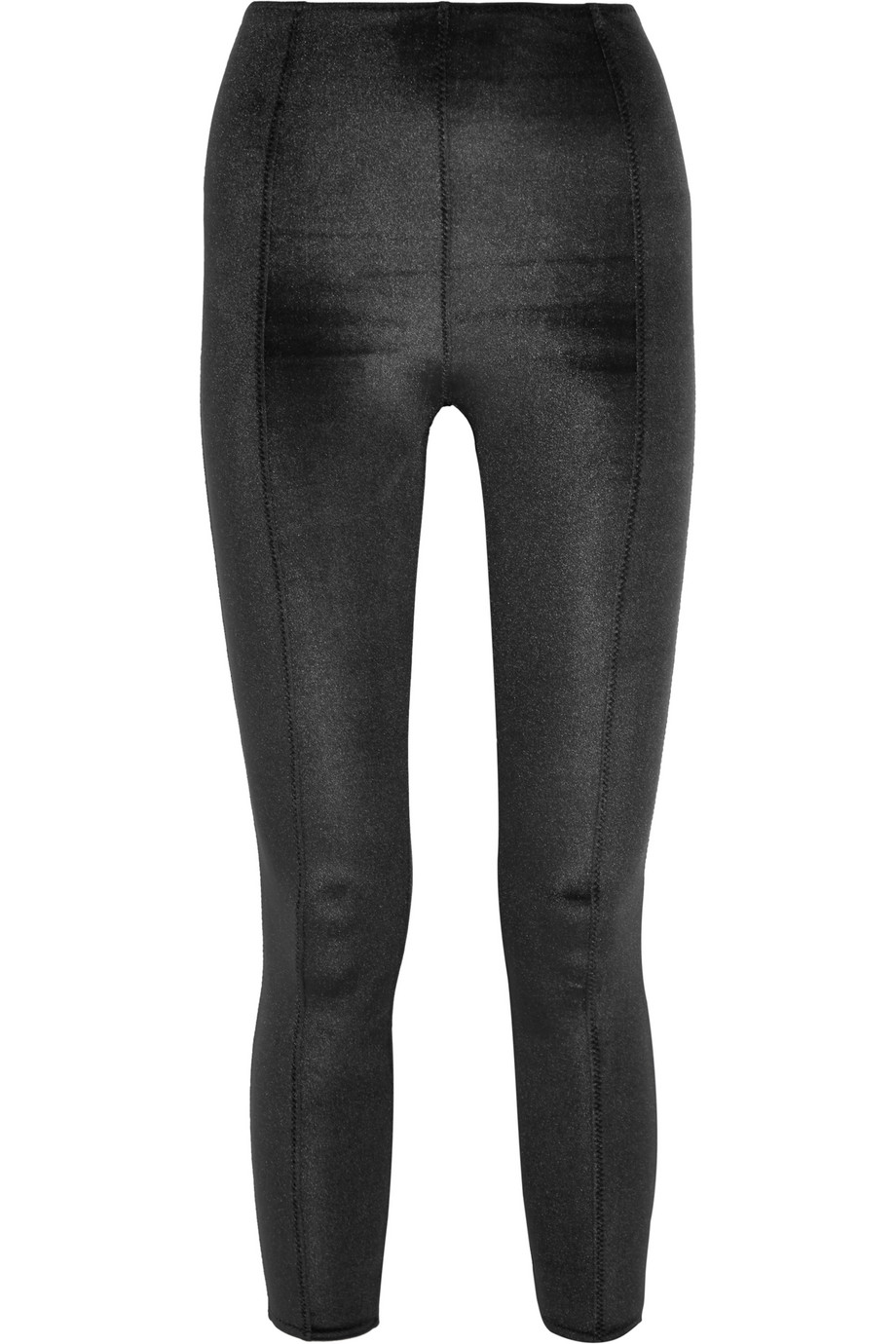 Karlie Stretch-Velvet Leggings, Lisa Marie Fernandez, Black, Women's, Size: 1