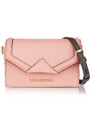 Karl Lagerfeld Klassik mini textured-leather shoulder bag