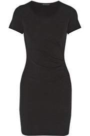Theory Citkona ruched stretch-jersey dress