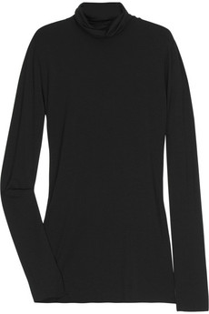 Lounge Lover Long-sleeve jersey roll-neck top