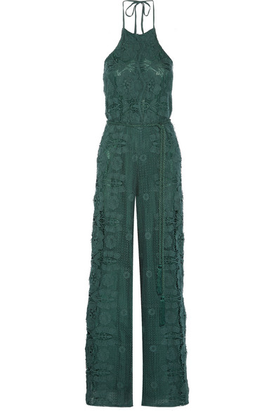 Crochet Jumpsuit : Miguelina Harriet crocheted cotton jumpsuit NET-A-PORTER.COM