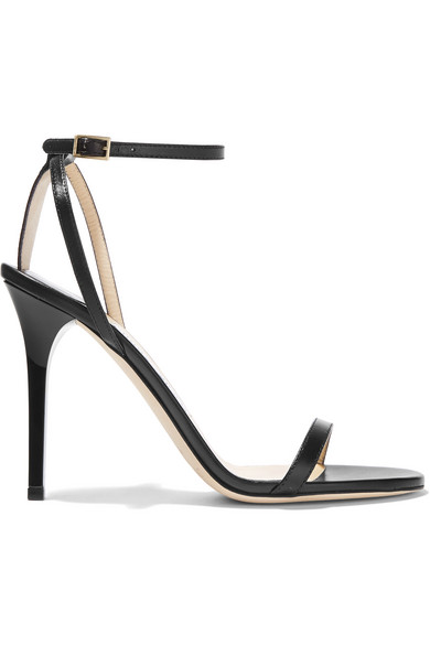 Jimmy Choo Leather Crossover Sandals view cheap online cheap sale purchase BLOyvqYmT