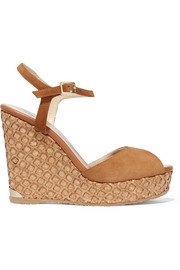Jimmy Choo Perla suede wedge sandals