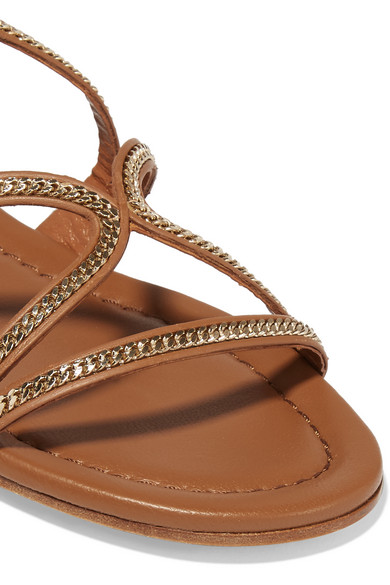 979db8f296d Jimmy Choo. Nickel embellished leather sandals.  287.50. Zoom In