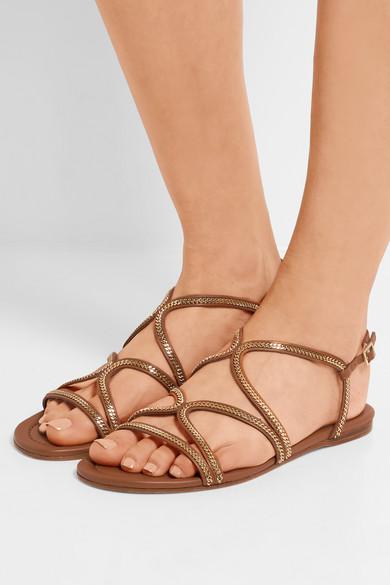 c625faa2ba3 Jimmy Choo. Nickel embellished leather sandals