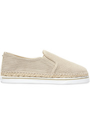 Dawn embossed metallic suede espadrilles