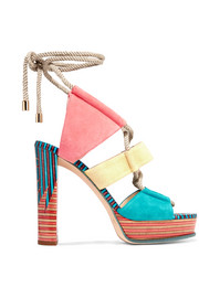 Jimmy Choo Halley color-block suede sandals