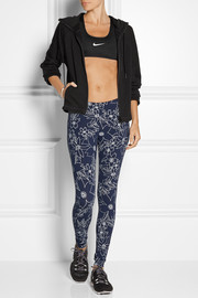 Leg-A-See Hawaiian II printed stretch cotton-blend jersey leggings