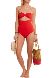 Antibes scalloped bandeau swimsuit