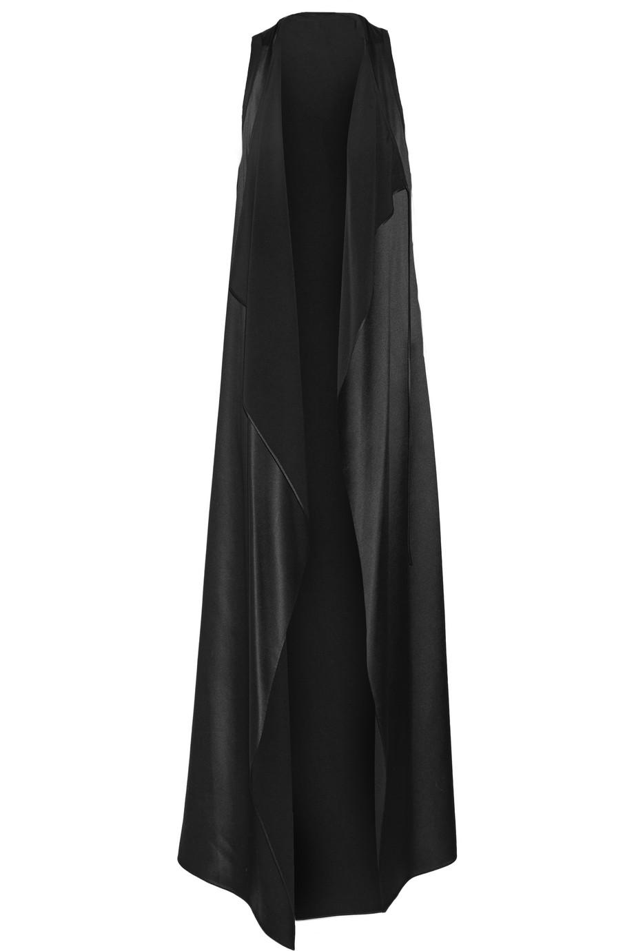 Marfa Silk-Satin Vest, Black, Women's, Size: 2