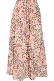 Paul & Joe Floral-print silk-chiffon maxi skirt