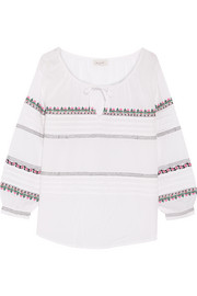 Paul & Joe Embroidered cotton blouse