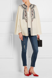 Paul & Joe Embroidered wool cape